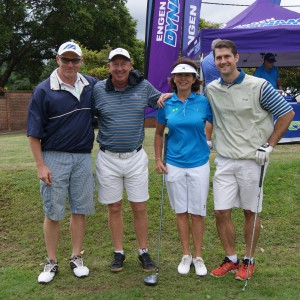 Tee-off from the 1st Hole, sponsored by Engen Polo Pony