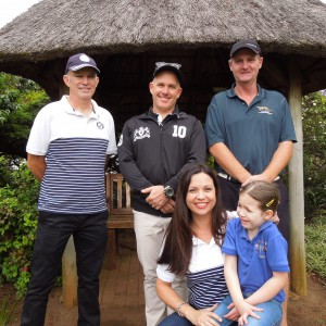 Derek Mayo (We are Durban), Gary Watkins (Quattro), Neil Stratton (Kloof Country Club) and Michelle Seaton and daughter (Triad School)